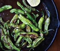 Sautéed shishito peppers, summer's best new bite