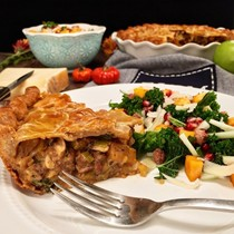 Savory lamb pie