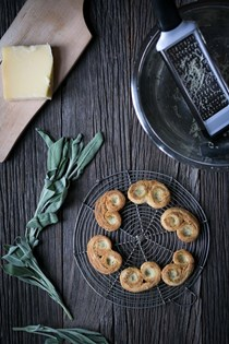Savory palmiers with cheese and herbs