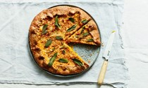 Savoury Gruyere and pumpkin pie