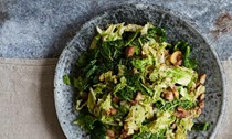 Savoy cabbage and chestnuts