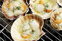 Scallops with lemon caper butter