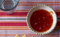 Scarlet pepper and chilli jam