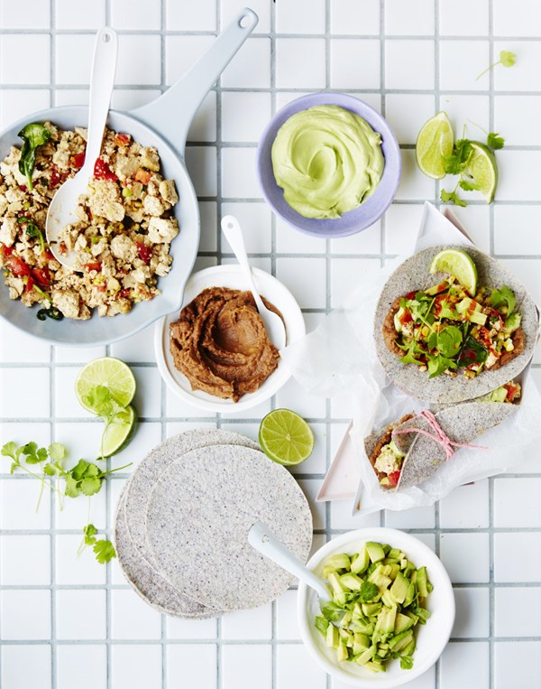 The vegan kitchen 130 wholefood recipes for a plant based diet scrambled tofu wraps forumfinder Image collections