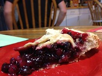 Serviceberry pie