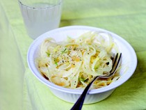 Shaved fennel salad with preserved lemon (Salade de fenouil cru au citron confit)