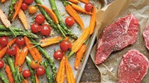 Sheet-pan steak and veggies