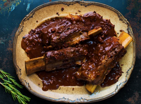 Short ribs in black sauce