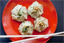 Shrimp and cilantro shu mai