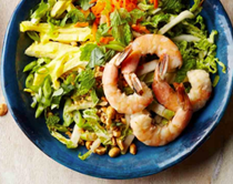 Shrimp pad Thai salad