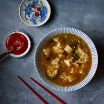 Silky hot and sour soup [Ed Schoenfeld]