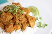 Simple butter chicken and homemade garam masala