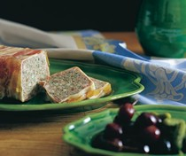 Simple country terrine with fresh herbs