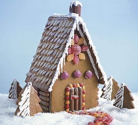 Simple gingerbread house