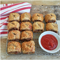 Simple party sausage rolls