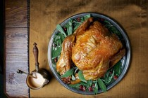 Simple roast turkey with simplest gravy