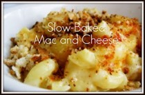 Slow-baked mac and cheese (in slow cooker)
