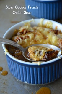 Slow cooker (and lighter) French onion soup