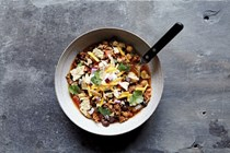 Slow-cooker beef and two-bean chili