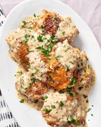 Slow cooker creamy French mustard chicken