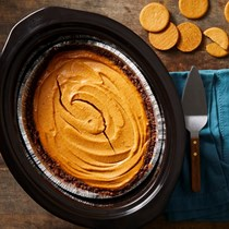 Slow-cooker pumpkin cheesecake