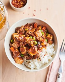 Slow cooker vegetarian mapo tofu