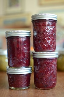 Small batch cherry plum jam