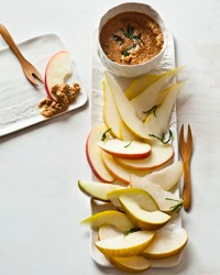 Smoked-almond butter with crispy rosemary