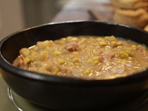 Smoky bacon, sweetcorn and potato soup