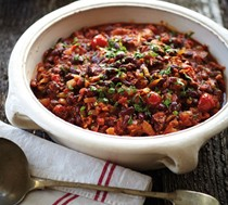 Smoky chili beans