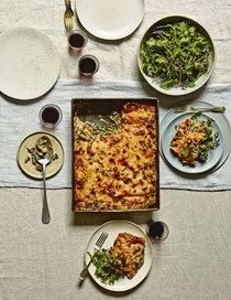 Smoky mushroom and roast kale lasagne