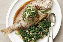 Snapper with black bean sauce