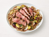 Soba noodle salad with grilled sirloin