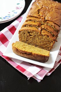 Spiced pumpkin flax bread