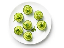 Spicy avocado cucumber cups