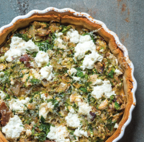 Spicy Brussels sprouts tart