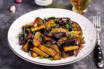 Spicy eggplant with garlic