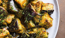Spicy Egyptian eggplant with fresh herbs
