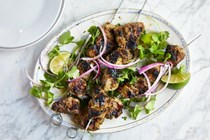 Spicy grilled pork with fennel, cumin and red onion