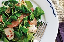 Spicy squid and grapefruit salad