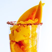 Spicy-sweet chile mango sundae