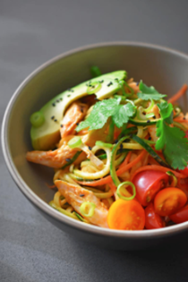 Spicy Thai chicken zoodles