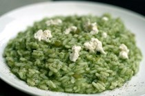 Spinach and goat's cheese risotto