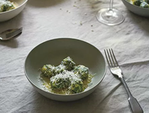 Spinach and ricotta gnudi