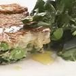 Spinach, pea and ricotta frittata