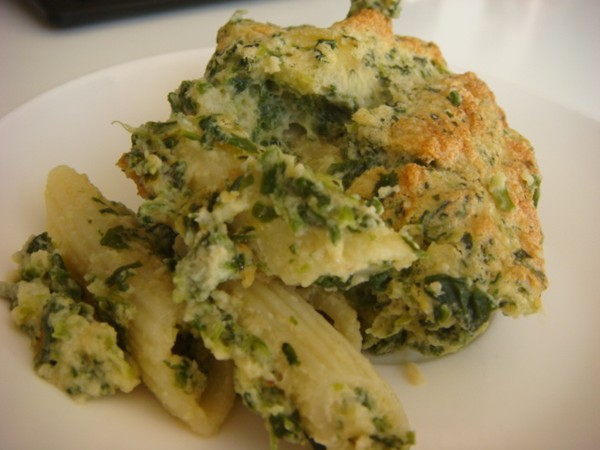 spinach, penne and cheese soufflé recipe | eat your books