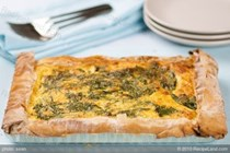 Spinach, ricotta and sweet potato tart
