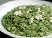 Spinach risotto with goat cheese (Dinner Tonight)