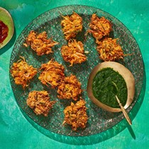 Spring vegetable bhajia