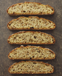 Sprouted wheat and honey sourdough loaf